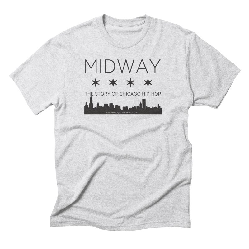 Midway (Black) Men's Triblend T-Shirt by Midway Shop
