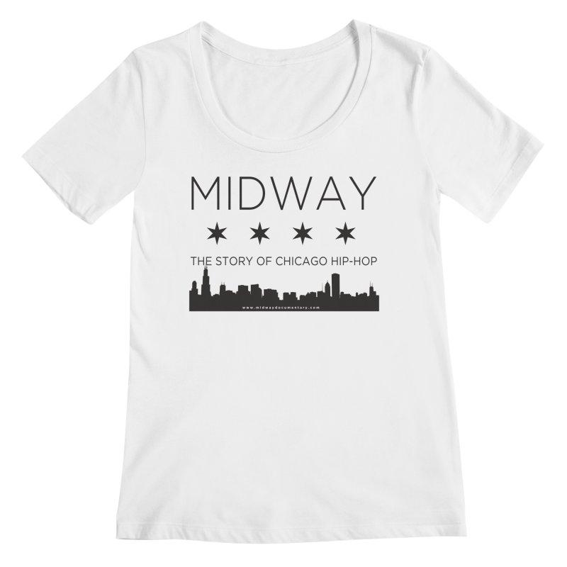Midway (Black) Women's Regular Scoop Neck by Midway Shop