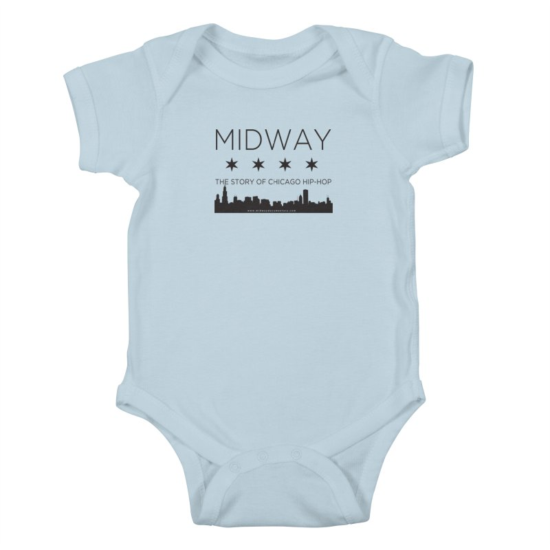 Midway (Black) Kids Baby Bodysuit by Midway Shop