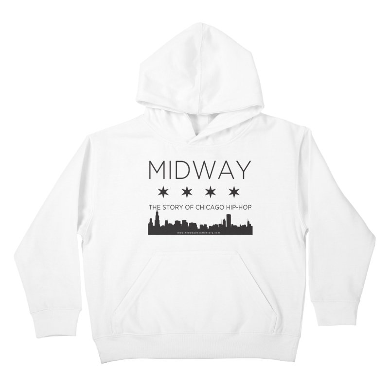 Midway (Black) Kids Pullover Hoody by Midway Shop