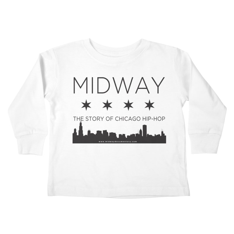 Midway (Black) Kids Toddler Longsleeve T-Shirt by Midway Shop