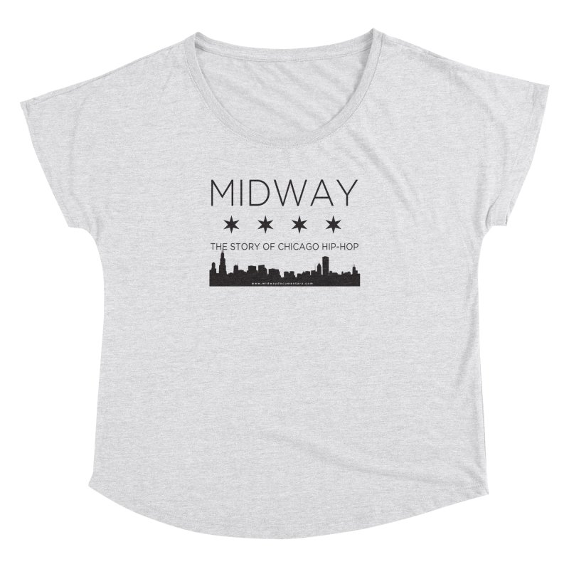 Midway (Black) Women's Dolman Scoop Neck by Midway Shop