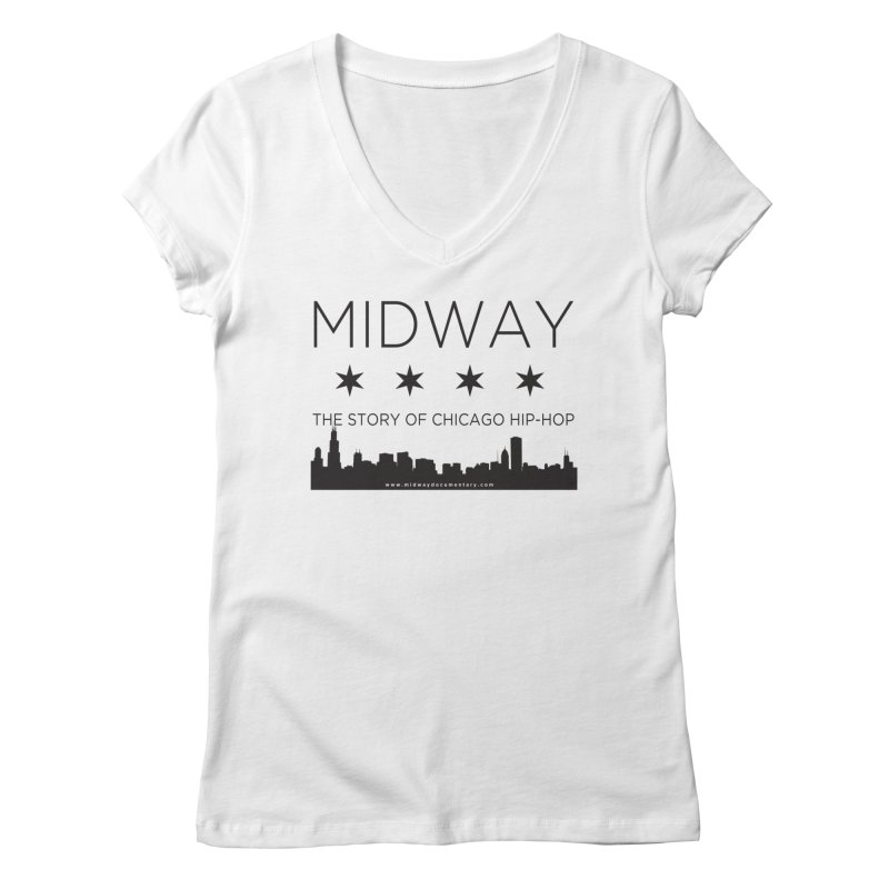 Midway (Black) Women's Regular V-Neck by Midway Shop