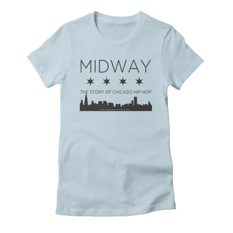 Midway (Black) Women's Fitted T-Shirt by Midway Shop