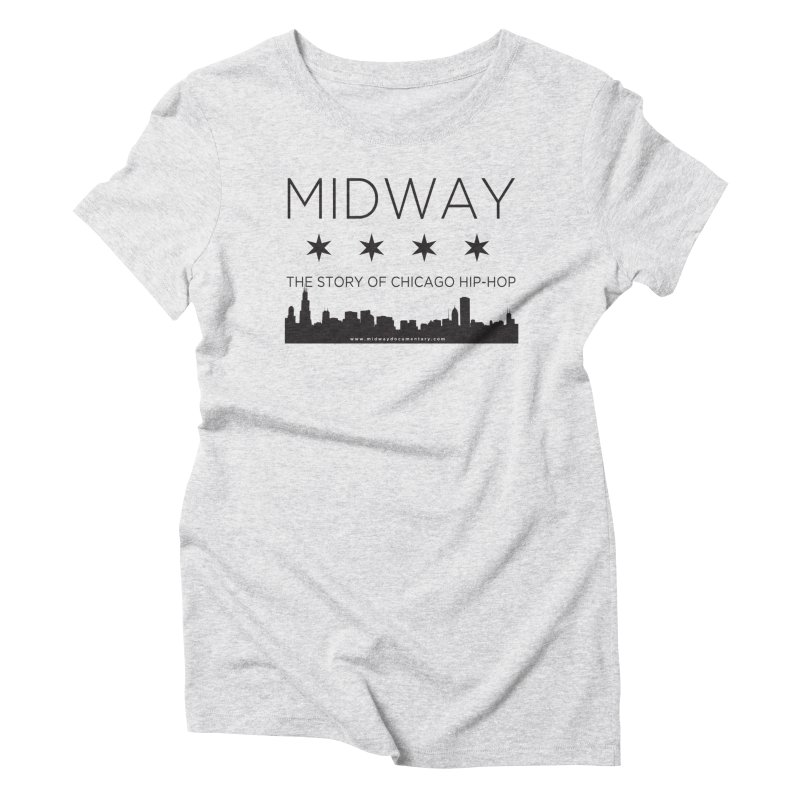 Midway (Black) Women's Triblend T-Shirt by Midway Shop