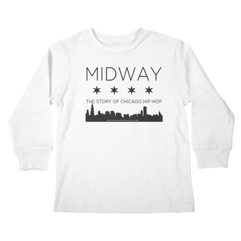 Midway (Black) Kids Longsleeve T-Shirt by Midway Shop