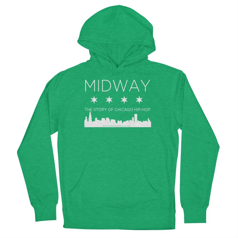 Midway (White) Women's French Terry Pullover Hoody by Midway Shop
