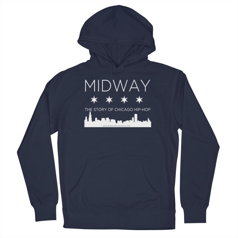 Midway (White) Men's French Terry Pullover Hoody by Midway Shop