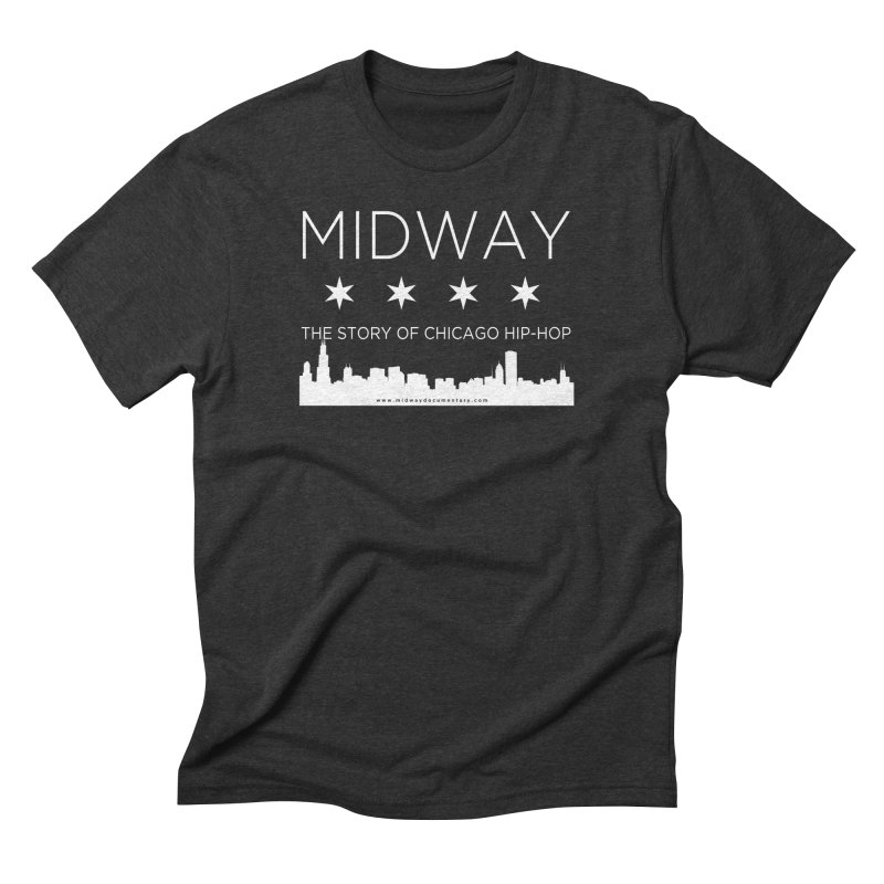 Midway (White) Men's Triblend T-Shirt by Midway Shop