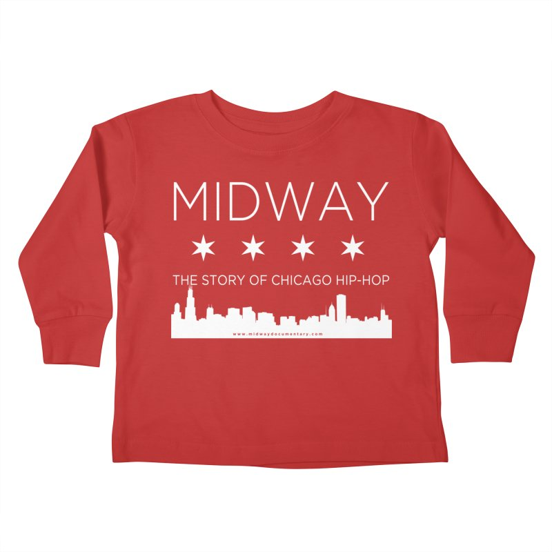Midway (White) Kids Toddler Longsleeve T-Shirt by Midway Shop