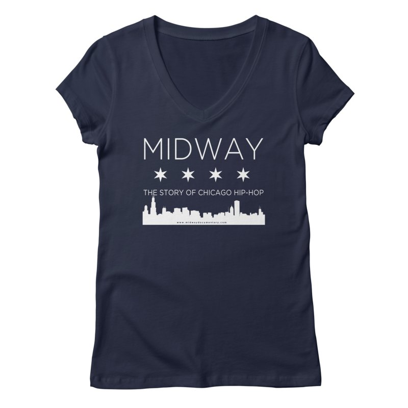 Midway (White) Women's Regular V-Neck by Midway Shop