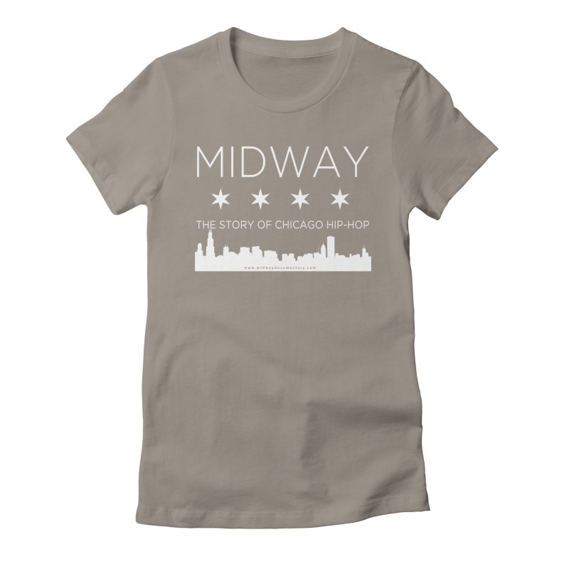Midway (White) Women's Fitted T-Shirt by Midway Shop