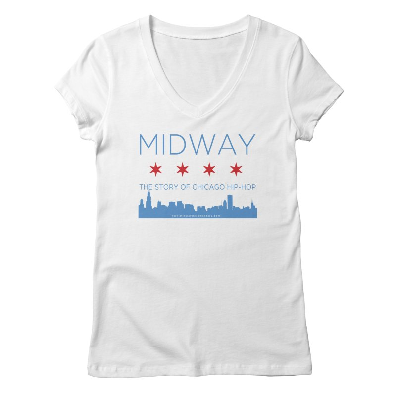 Midway (Chicago) Women's Regular V-Neck by Midway Shop
