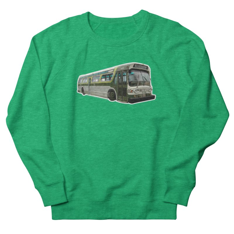 Bus Men's French Terry Sweatshirt by Midway Shop