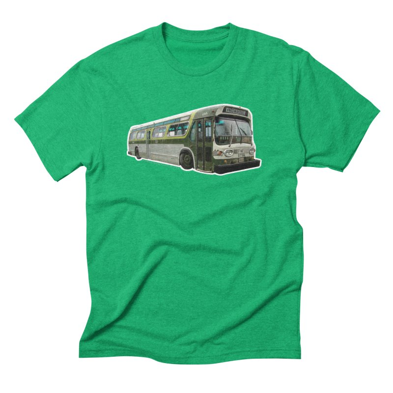 Bus Men's Triblend T-Shirt by Midway Shop