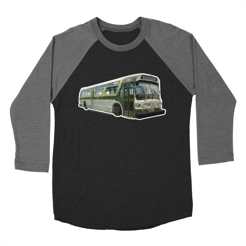 Bus Men's Baseball Triblend Longsleeve T-Shirt by Midway Shop