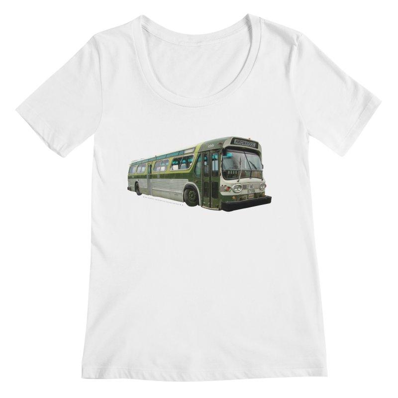 Bus Women's Regular Scoop Neck by Midway Shop