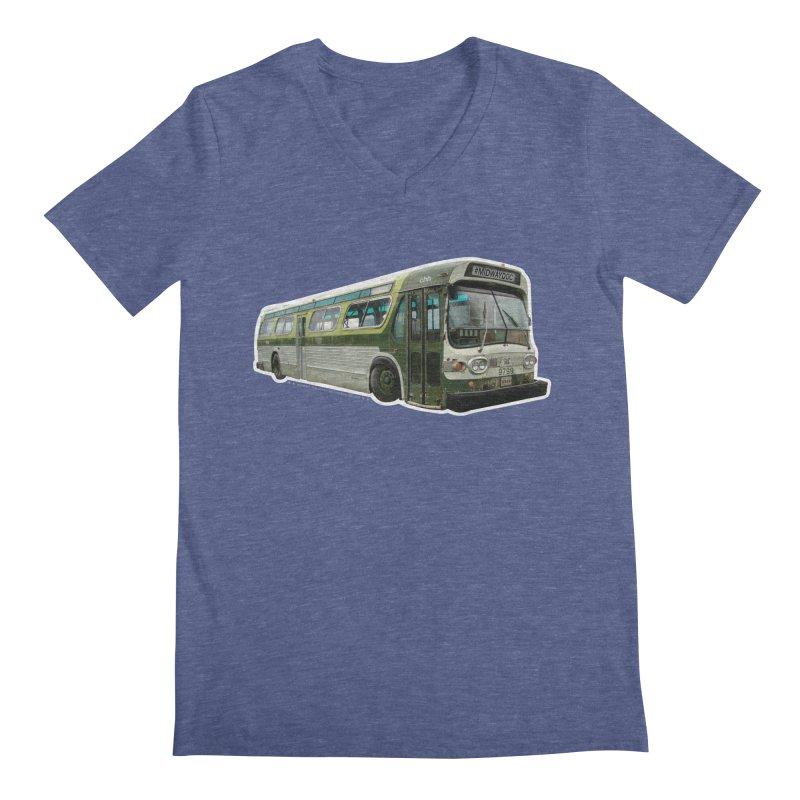 Bus Men's Regular V-Neck by Midway Shop