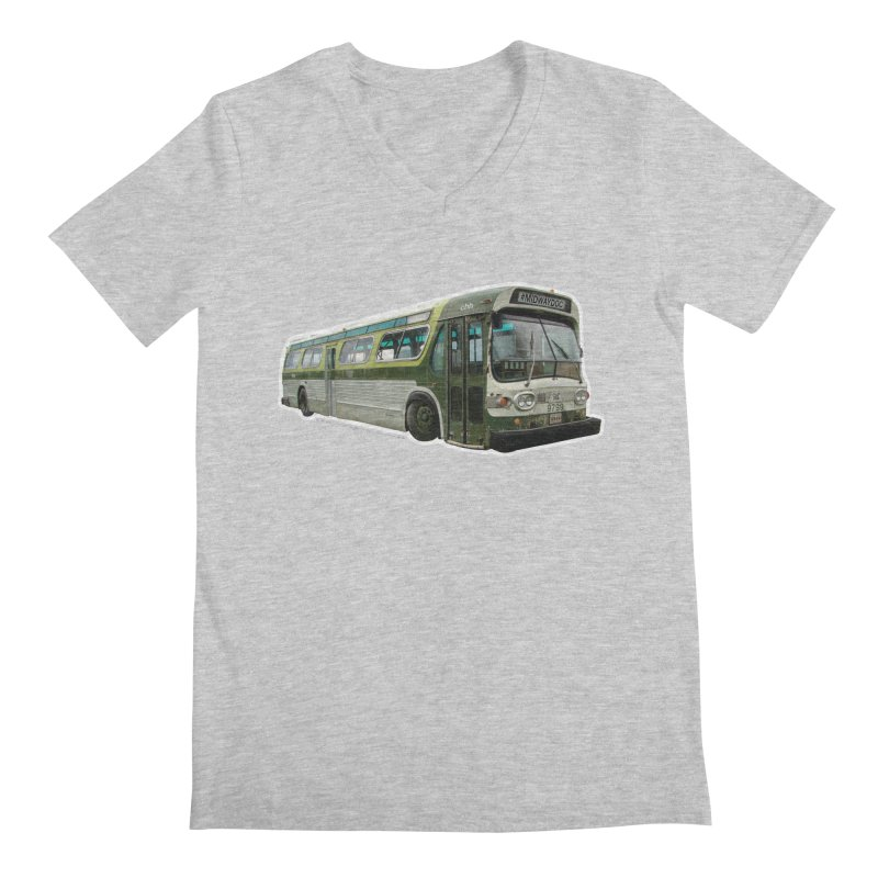 Bus Men's Regular V-Neck by Midway Shop