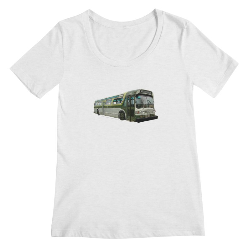 Bus Women's Regular Scoop Neck by Midway Shop