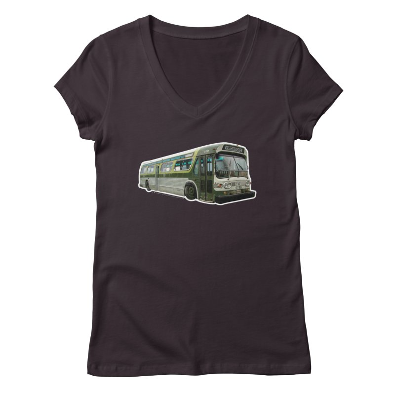Bus Women's Regular V-Neck by Midway Shop