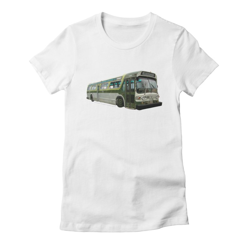 Bus Women's Fitted T-Shirt by Midway Shop