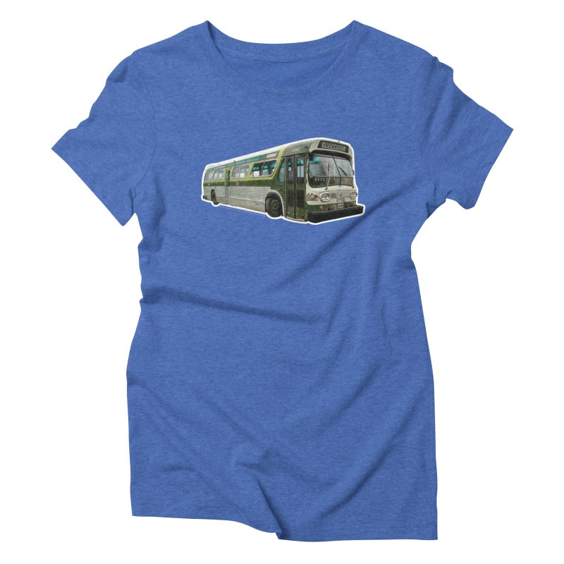 Bus Women's Triblend T-Shirt by Midway Shop