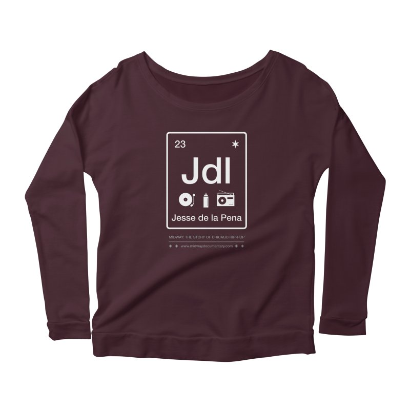 Elements: Jesse de la Pena Women's Scoop Neck Longsleeve T-Shirt by Midway Shop