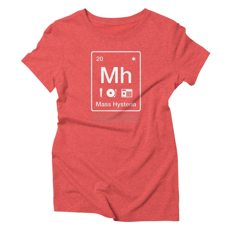 Elements: Mass Hysteria Women's Triblend T-Shirt by Midway Shop