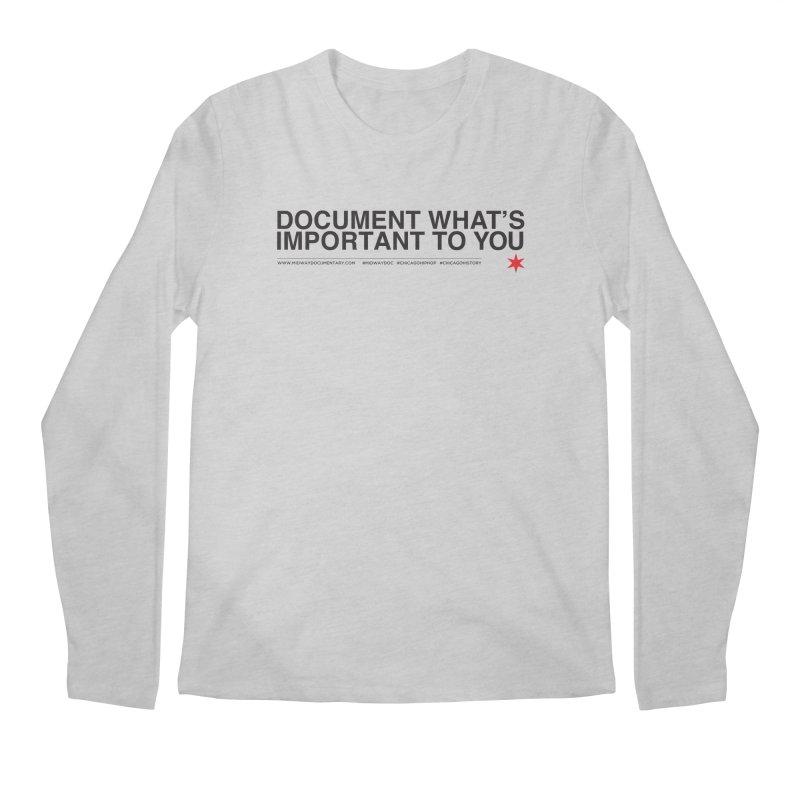 Document (Horizontal) Men's Regular Longsleeve T-Shirt by Midway Shop
