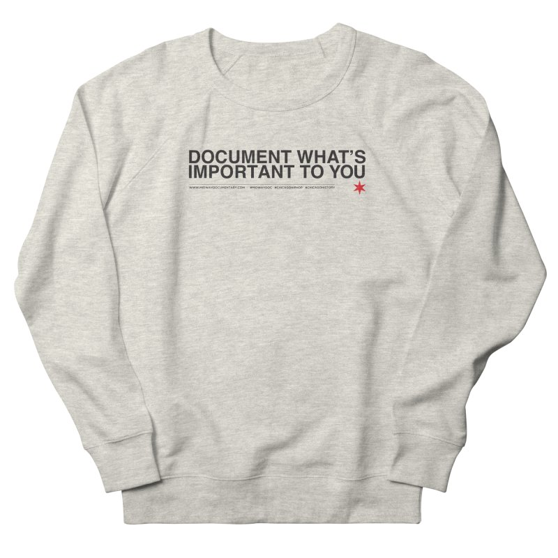 Document (Horizontal) Women's French Terry Sweatshirt by Midway Shop