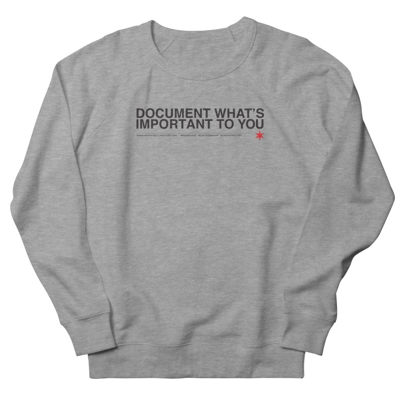 Document (Horizontal) Men's French Terry Sweatshirt by Midway Shop