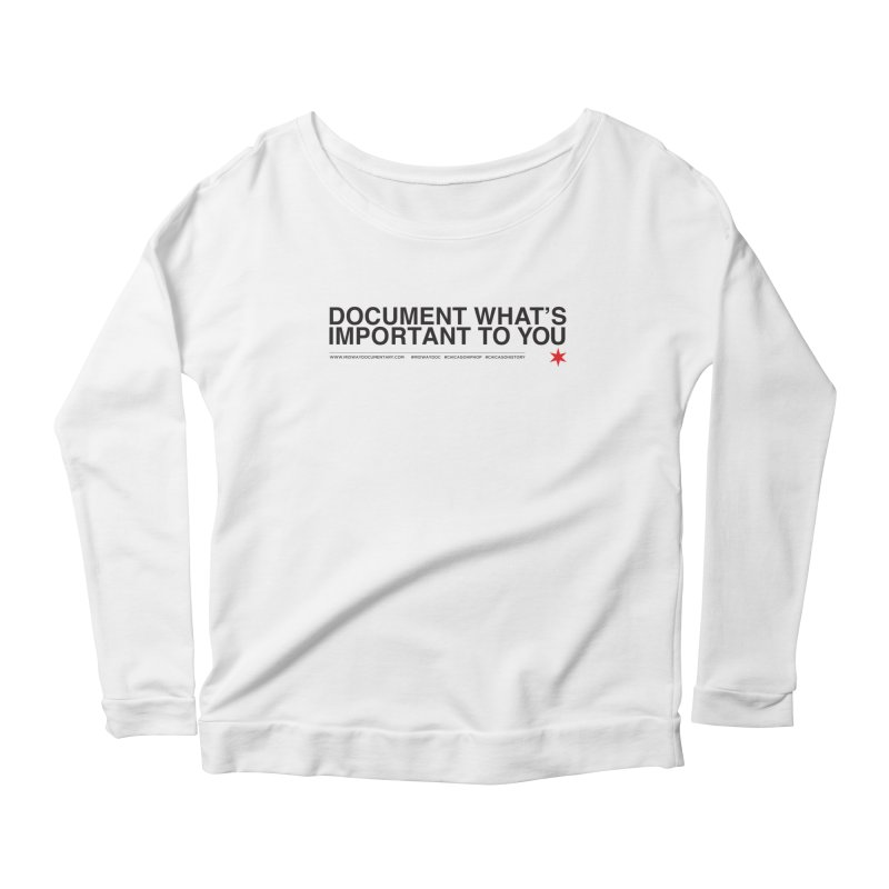 Document (Horizontal) Women's Scoop Neck Longsleeve T-Shirt by Midway Shop