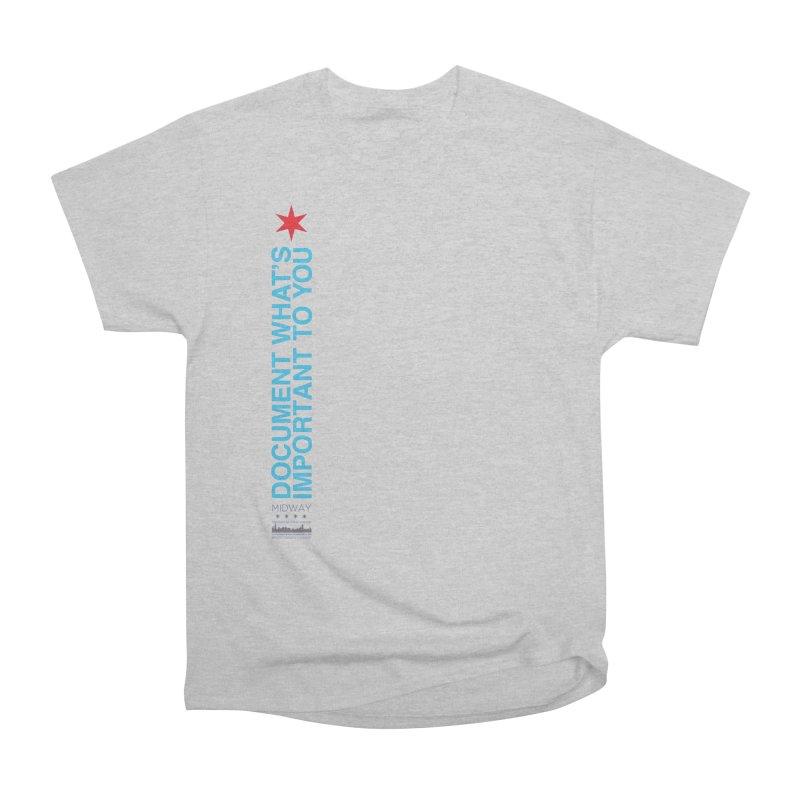 Document (Vertical) Women's Heavyweight Unisex T-Shirt by Midway Shop