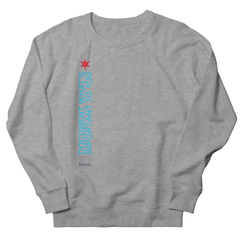 Document (Vertical) Men's French Terry Sweatshirt by Midway Shop