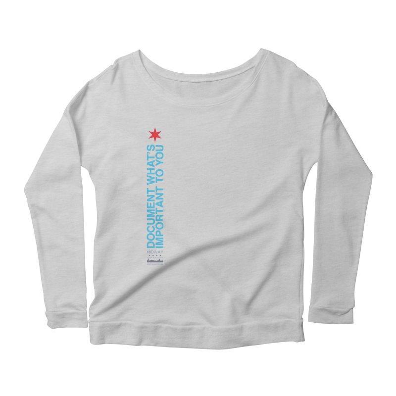Document (Vertical) Women's Scoop Neck Longsleeve T-Shirt by Midway Shop