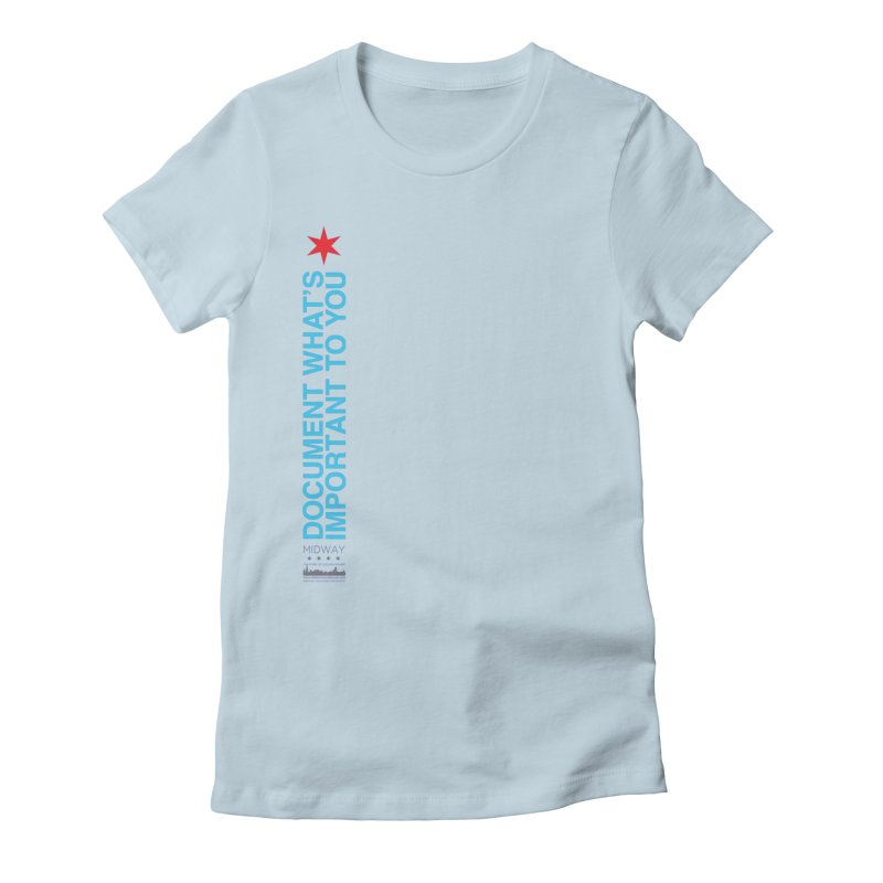 Document (Vertical) Women's Fitted T-Shirt by Midway Shop