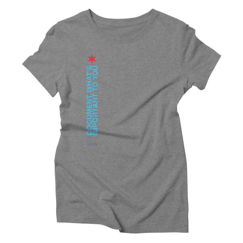 Document (Vertical) Women's Triblend T-Shirt by Midway Shop