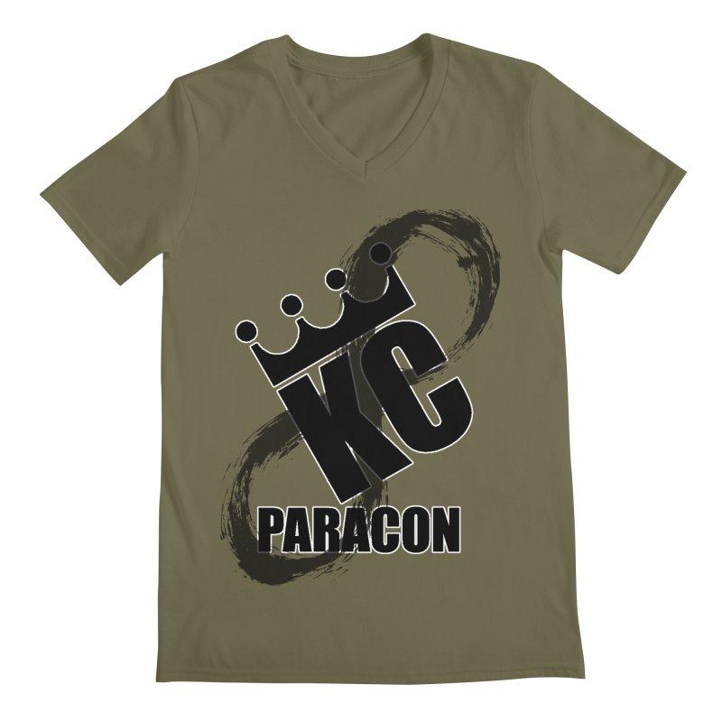 KC Paracon 2019 Men's Regular V-Neck by midwestbushcraftshow's Artist Shop