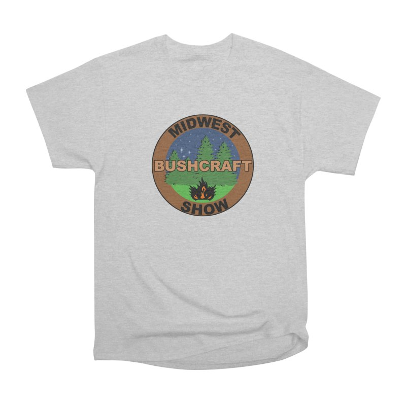 Official Show Logo Men's Heavyweight T-Shirt by midwestbushcraftshow's Artist Shop