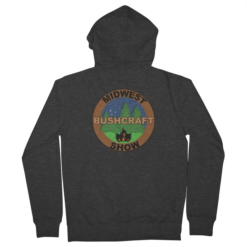 Official Show Logo Men's French Terry Zip-Up Hoody by midwestbushcraftshow's Artist Shop