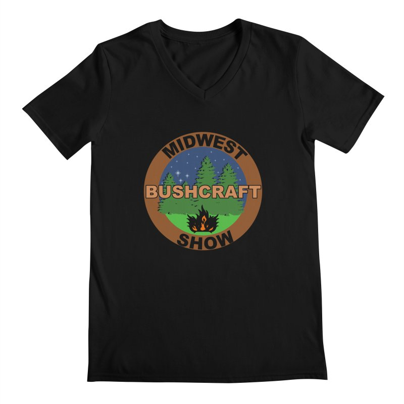 Official Show Logo Men's Regular V-Neck by midwestbushcraftshow's Artist Shop