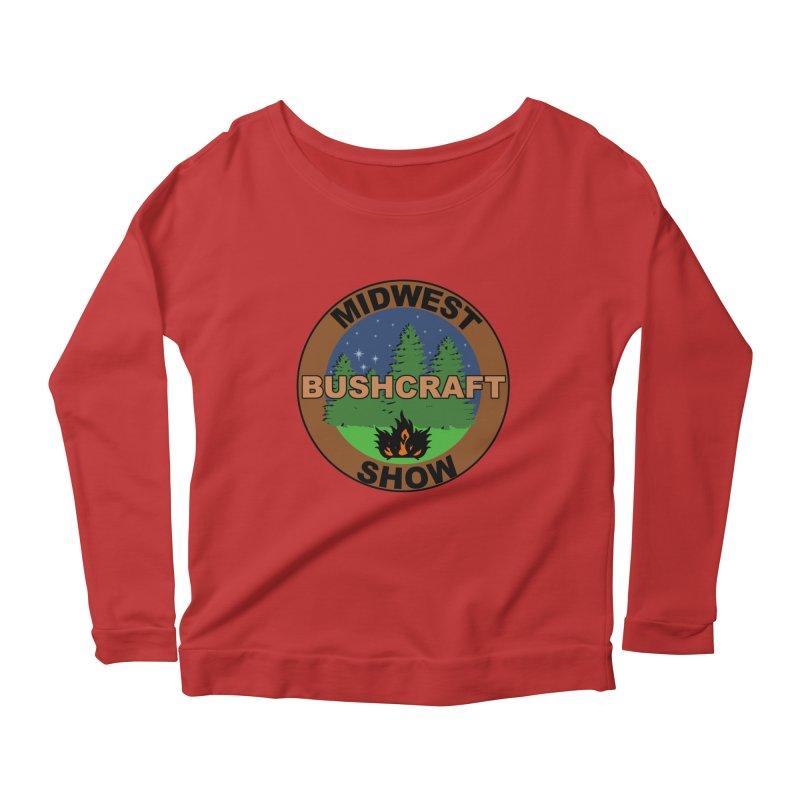 Official Show Logo Women's Scoop Neck Longsleeve T-Shirt by midwestbushcraftshow's Artist Shop