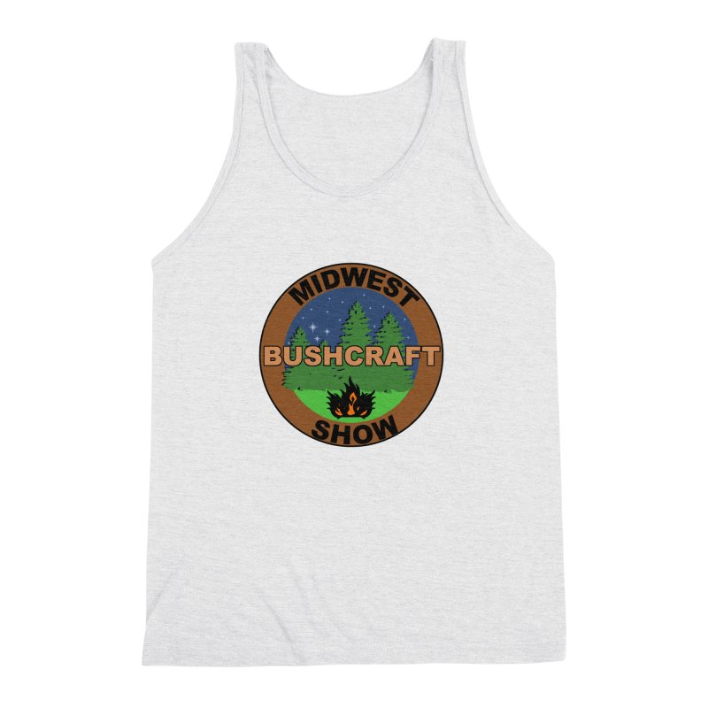 Official Show Logo Men's Triblend Tank by midwestbushcraftshow's Artist Shop