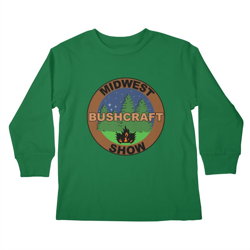 Official Show Logo Kids Longsleeve T-Shirt by midwestbushcraftshow's Artist Shop