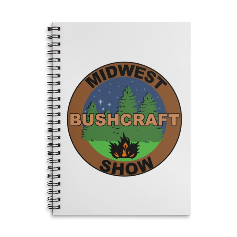 Official Show Logo Accessories Lined Spiral Notebook by midwestbushcraftshow's Artist Shop