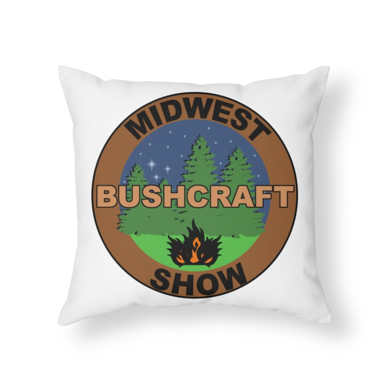 Official Show Logo Home Throw Pillow by midwestbushcraftshow's Artist Shop