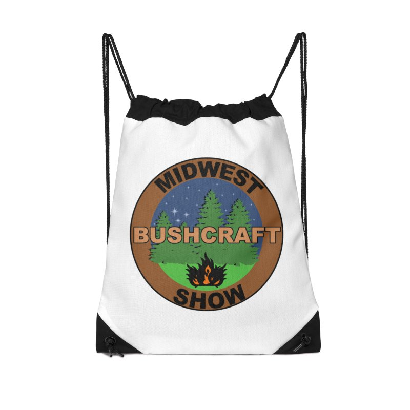 Official Show Logo Accessories Drawstring Bag Bag by midwestbushcraftshow's Artist Shop