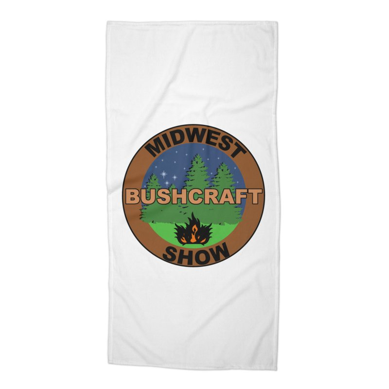 Official Show Logo Accessories Beach Towel by midwestbushcraftshow's Artist Shop
