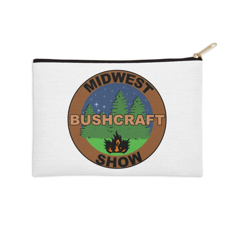 Official Show Logo Accessories Zip Pouch by midwestbushcraftshow's Artist Shop